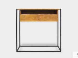 Konsolentisch loft Schrank aus Massivholz Metallbeinen