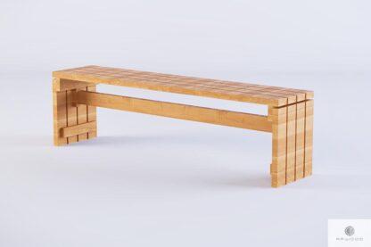Ławka ogrodowa drewniana z litego drewna GARDEN