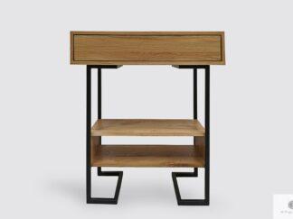 Nowoczesna konsola stolik pomocnik dębowy OLIMPIA