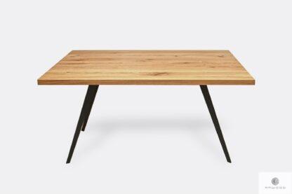 Modern table of solid oak wood to living room VITA