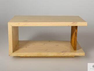 Oryginalna ława z drewna litego sosnowego do salonu IKSJA