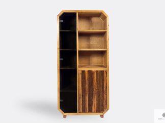 Słupek regał na książki z drewna litego do salonu OMNIS