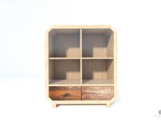 Solide Kommode aus Massivholz mit Glas ins Wohnzimmer OMNIS