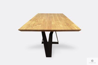 Stół industrialny z drewna litego i stali na wymiar BORNEO