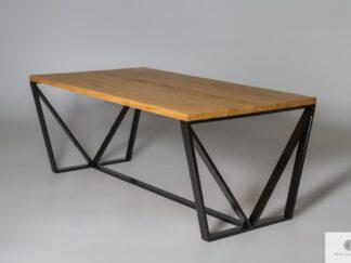 Stół nowoczesny drewniany dębowy do salonu jadalni VICTORIA