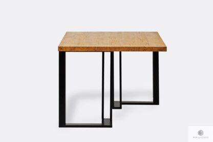 Tisch mit Holztischplatte und Metallbeinen SNAKE