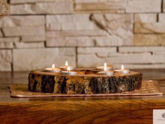 Dekorative Kerzenständer aus Massivholz STAR finden Sie uns auf https://www.facebook.com/RaWoodpl/