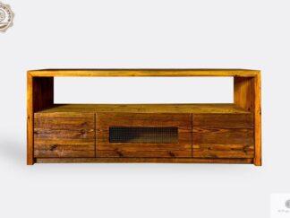 Szafka pod telewizor ze starego drewna litego do salonu AMBER