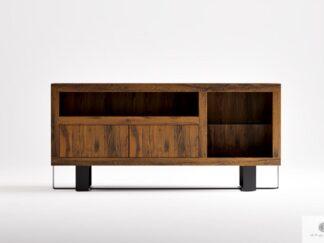 Szafka RTV stojąca z dębowego drewna litego do salonu MOCCA
