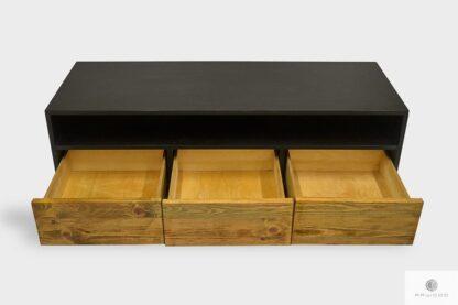 Industrielle Holz Fernsehschrank mit Schubladen ins Wohnzimmer NESCA I
