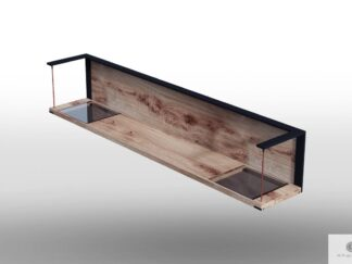 Regal aus Eichenholz und Glas ins Wohnzimmer IBSEN