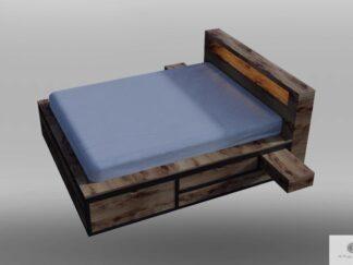 Kopfteil für Bett aus Massiveichenholz HUGON
