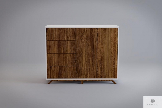 Moderne holzerne Kommode mit Fronten aus altem Massivholz BERGEN finden Sie uns auf https://www.facebook.com/RaWoodpl/