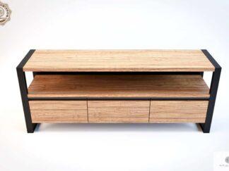 Fersehschrank aus Eichenholz und Stahl ins Wohnzimmer NESCA III finden Sie uns auf https://www.facebook.com/RaWoodpl/