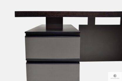 Schreibtisch aus Massivholz mit Conteiner auf Bestellung BOSS