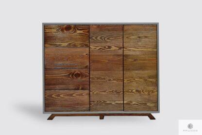 Nowoczesna drewniana komoda fronty ze starego drewna litego BERGEN