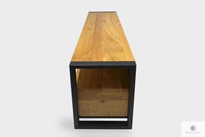 Industrielle Eiche TV Schrank aus Holz und Metall ins Wohnzimmer CAMERON