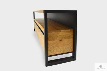TV Schrank aus Massivholz in industrielle Stil ins Wohnzimmer CAMERON