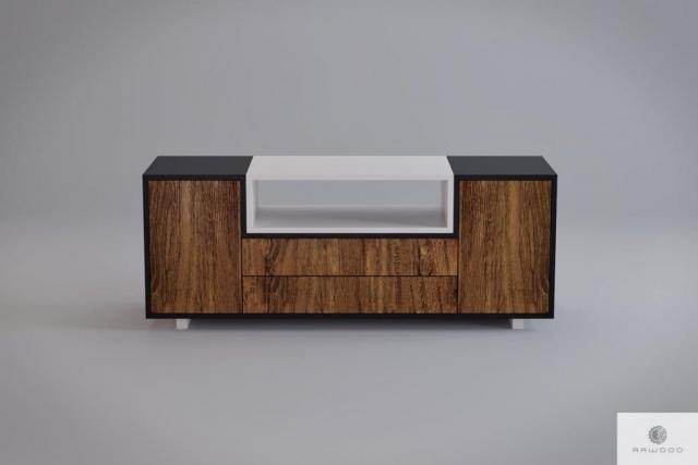 Moderne holzerne TV Schrank ins Wohnzimmer BERGEN finden Sie uns auf https://www.facebook.com/RaWoodpl/