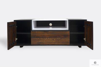 Holz Fernsehschrank mit Schubladen ins Wohnzimmer BERGEN
