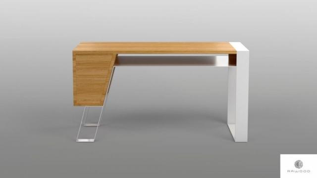 Schreibtisch aus Eichenholz auf Metallbeinen ins Arbeitzimmer Buro BORA finden Sie uns auf https://www.facebook.com/RaWoodpl/