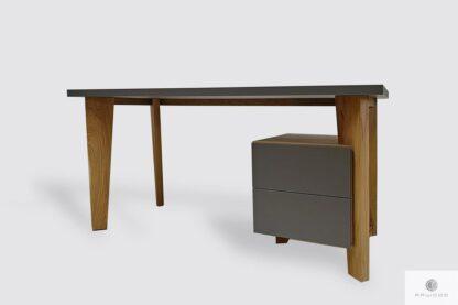 Holz Schreibtisch mit Schubladen ins Büro GRAND