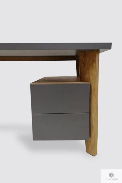 Modern Holz Schreibtisch mit Schubladen ins Arbeitzimmer GRAND