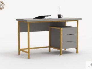 Moderne Schreibtisch mit Holzbeinen ins Arbeitzimmer Zimmer BOSTON