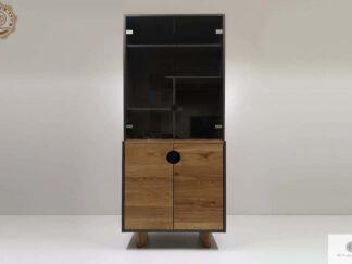 Holz Bücherregal mit Regale Vitrine für Wohnzimmer Zimmer GRAND Möbelhersteller RaWood Premium Möbel