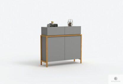 Designer moderne Kommode graue laminierte Platte und natürliche Eiche BOSTON Mobelhersteller RaWood Premium Mobel