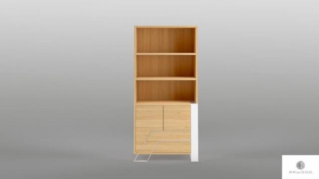 Bucherregal mit Schubladen ins Wohnzimmer Schlafzimmer BORA finden Sie uns auf https://www.facebook.com/RaWoodpl/