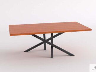 Tisch mit Eiche Tischplatte auf Metallgestell ins Esszimmer ARGON