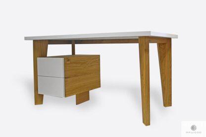 Weiß Schreibtisch aus Massivholz ins Arbeitzimmer GRAND