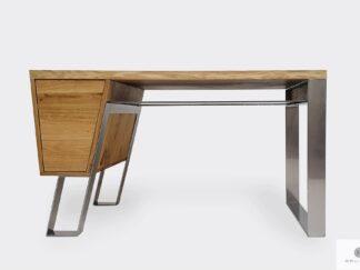 Schreibtisch aus Eichenholz auf Metallbeinen ins Arbeitzimmer Büro BORA
