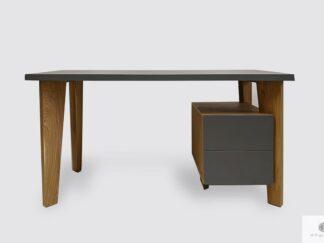 Designer Schreibtisch mit Holzbeinen und Schrank ins Arbeitzimmer GRAND