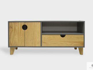 Elegantes Fernsehschrank aus Holz und laminierten Platten ins Wohnzimmer GRAND