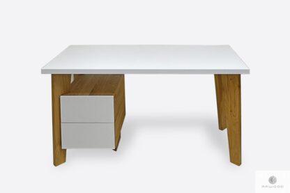 Modern Holz Schreibtisch mit Container ins Arbetizimmer GRAND