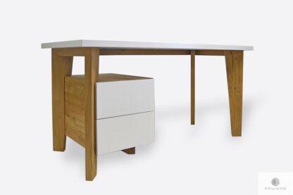 Modern Holzschreibtisch mit Schubladen auf Dimension GRAND