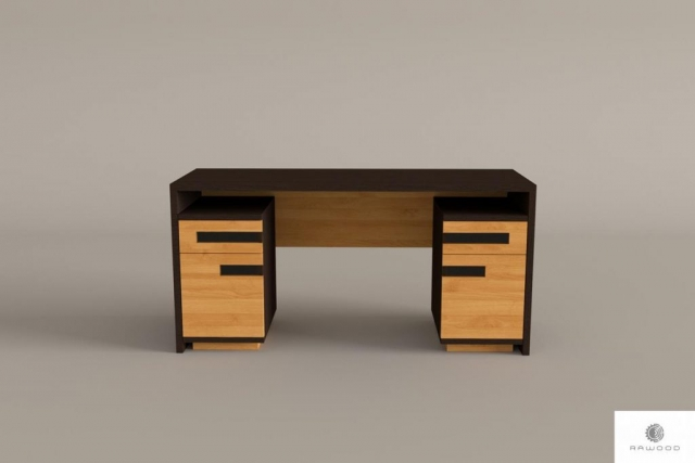 Eiche moderner Schreibtisch aus Massivholz ins Buro LAGOS finden Sie uns auf https://www.facebook.com/RaWoodpl/