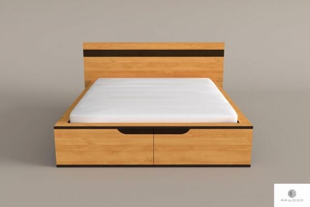 Eiche modernes Bett aus Massivholz für Schlafzimmer LAGOS finden Sie uns auf https://www.facebook.com/RaWoodpl/