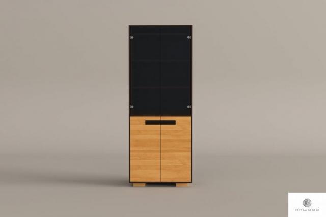 Moderne große Eichenstandvitrine ins Wohnzimmer LAGOS finden Sie uns auf https://www.facebook.com/RaWoodpl/