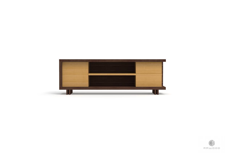 TV Schrank aus Holz und laminierten Platten ins Wohnzimmer NESTON finden Sie uns auf https://www.facebook.com/RaWoodpl/