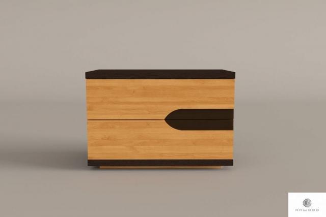 Nachtschrank mit Schubladen aus Massivholz ins Schlafzimmer LAGOS find us on https://www.facebook.com/RaWoodpl/