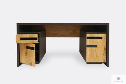 Holz Schreibtisch mit Container ins Büro LAGOS