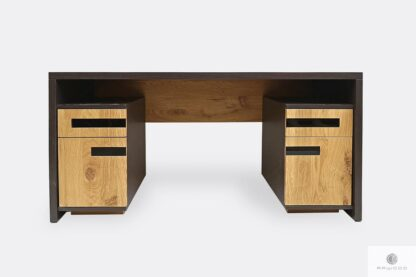 Modern Eiche Schreibtisch aus Massivholz für Büro LAGOS
