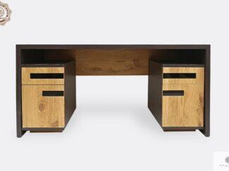 Eiche moderner Schreibtisch aus Massivholz für Büro LAGOS