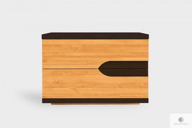 Nachtschrank mit Schubladen aus Massivholz ins Schlafzimmer LAGOS