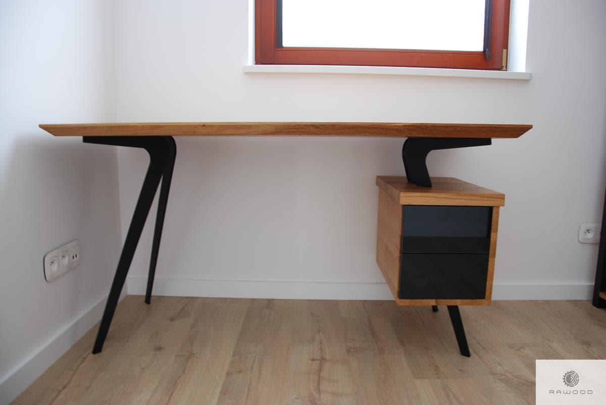 Designer Eiche Schreibtisch auf Metallbeinen ins Büro VITA