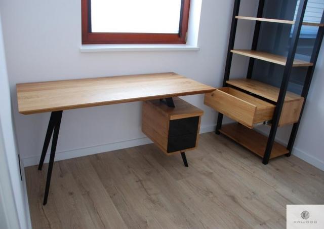Designer Eiche Schreibtisch VITA und Holz Bücherregal COLIN