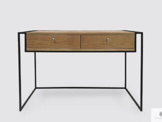 Industrielle Schreibtisch aus Massivholz mit Schubladen ins Arbeitzimmer